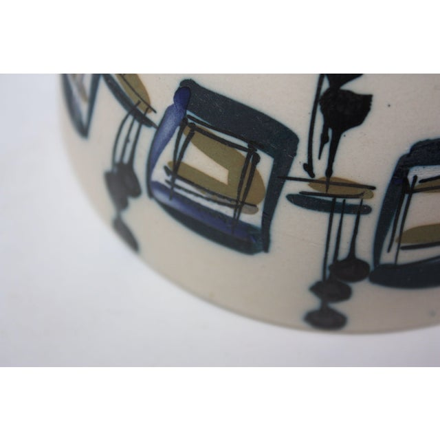 Ceramic Vintage Israeli Hand-Painted Ceramic Bowl by Azaz (עזז) for Harsa Be'er Sheva For Sale - Image 7 of 10