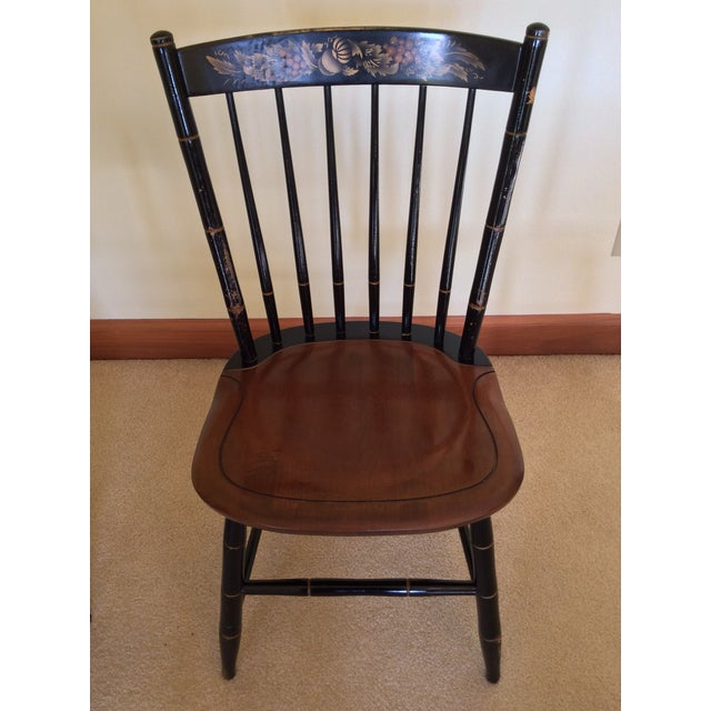 Black Hitchcock Country Side Chair in Black With Harvest Stained Seat For Sale - Image 8 of 11