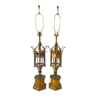 Mid-Century Moorish Table Lamps For Sale
