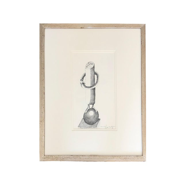 1950s 1950s Vintage Jobert Yves French Ink on Paper Drawing For Sale - Image 5 of 5