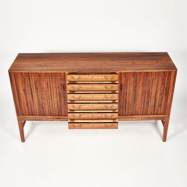 1960s Danish Ole Wanscher Tambour Cabinet, 1960s For Sale - Image 5 of 8