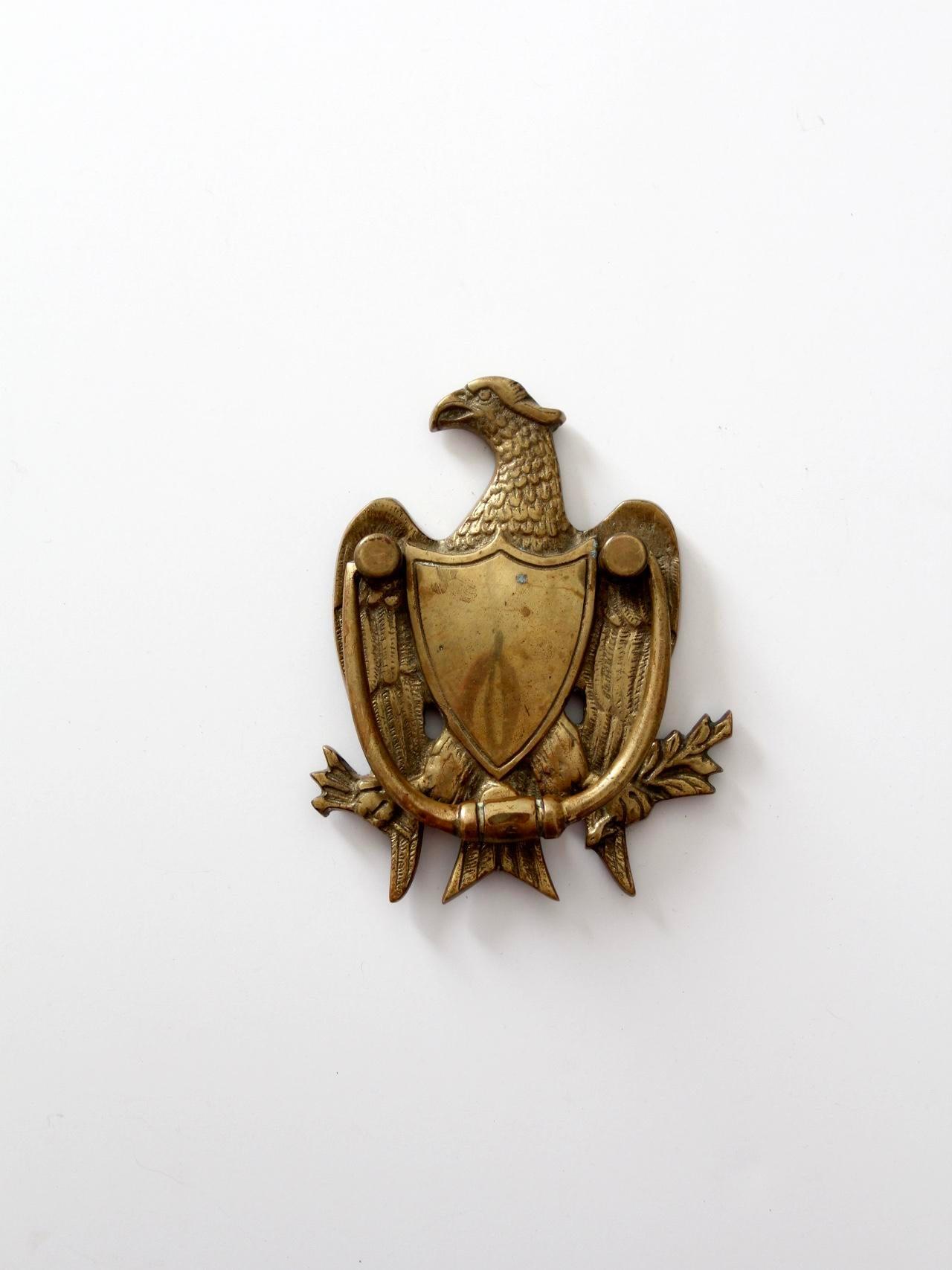 Antique Brass Eagle Door Knocker   Image 2 Of 6