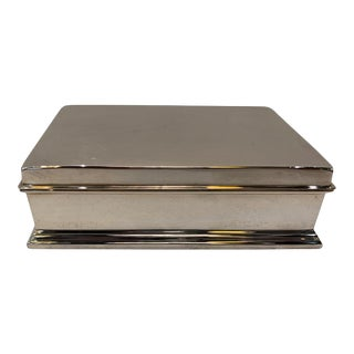 Mid-Century Sterling Silver Dresser Desk Box by Gorham Silver Co. For Sale