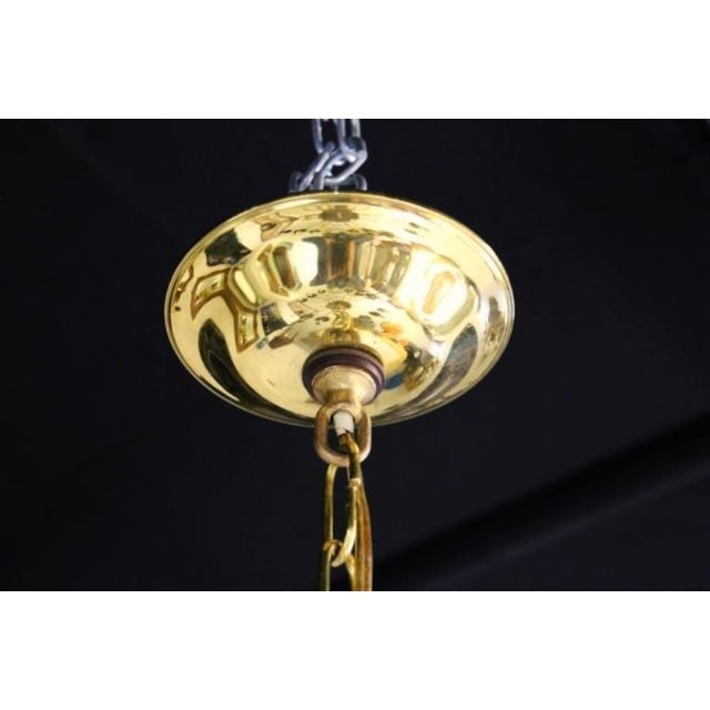 Williamsburg Restoration Inc. Colonial Williamsburg Brass Chandelier For Sale - Image 4 of 7