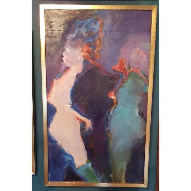Original oil paining by Martin Sumers with gold frame. Martin Sumers (1922-2012) is arguably one of the most accomplished...