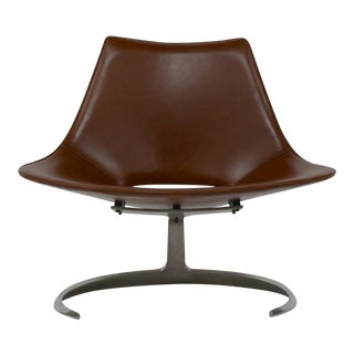 Early Scimitar Lounge Chair in Leather by Preben Fabricius and Jorgen Kastholm