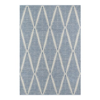 Erin Gates by Momeni River Beacon Denim Indoor/Outdoor Hand Woven Area Rug - 7′6″ × 9′6″