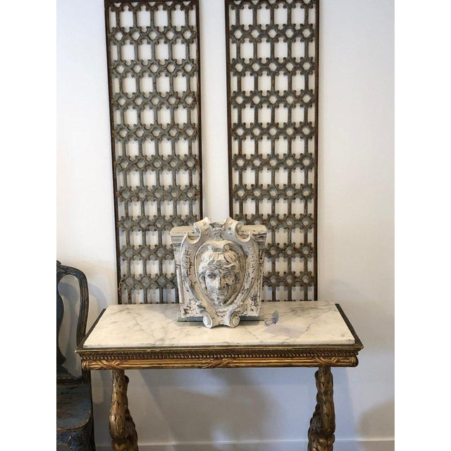 Mid 19th Century British Decorative Iron Panels- a Pair For Sale In Los Angeles - Image 6 of 8