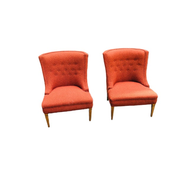 Mid-Century Modern Burnt Orange Chairs - a Pair For Sale - Image 13 of 13