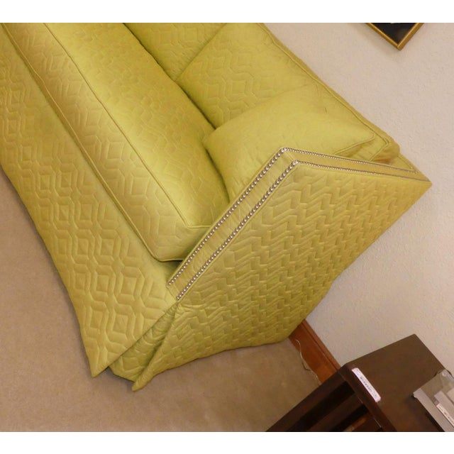 Wesley Hall Contemporary Blake Sofa With Nailhead Trim For Sale In Miami - Image 6 of 11