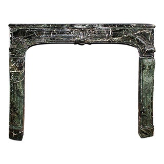 19th Century Louis XIV Style French Terra Verde Marble Mantel For Sale