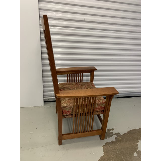 Early 21st Century Stickley Spindle Arm Chair and Dining Chairs- Set of 10 For Sale - Image 5 of 13