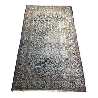1950s Vintage Oushak Rug- 4′ × 6′8″ For Sale