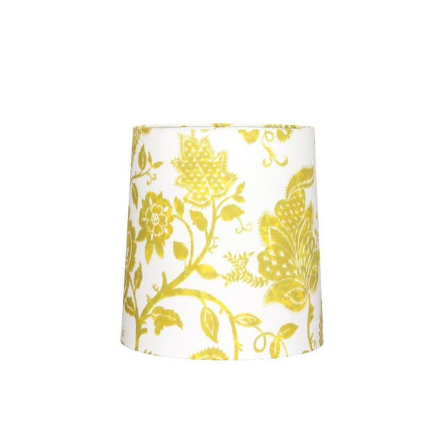 Not Yet Made - Made To Order Custom Yellow Floral Drum Lamp Shade For Sale - Image 5 of 5