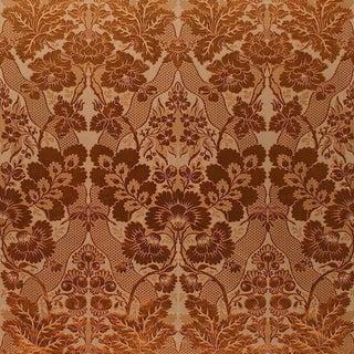 Sample, Suzanne Tucker Home Aurora Silk/Cotton Damask in Paprika