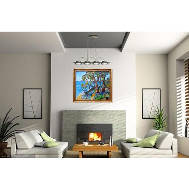 Canvas Monumental - Santa Barbara Hills Oil Painting Framed For Sale - Image 7 of 8