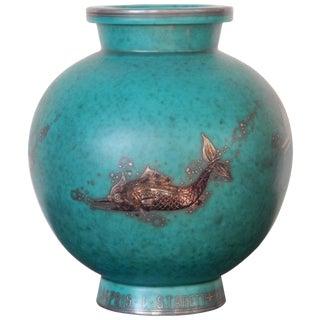 William Kåge Gustavsberg Argenta Vase For Sale