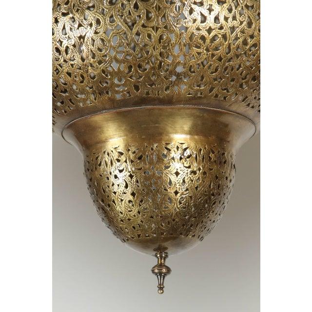 Mid 20th Century Moroccan Moorish Brass Chandelier For Sale - Image 5 of 8