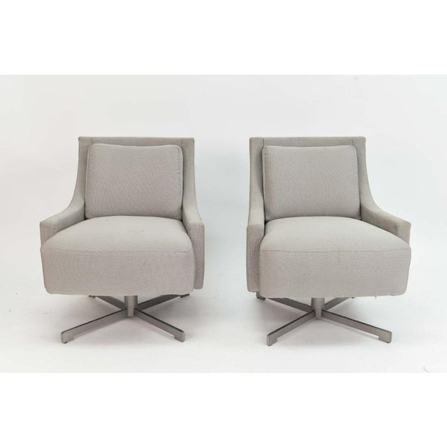 Barbara Barry For Hbf Furniture Scoop Swivel Lounge Chairs A Pair