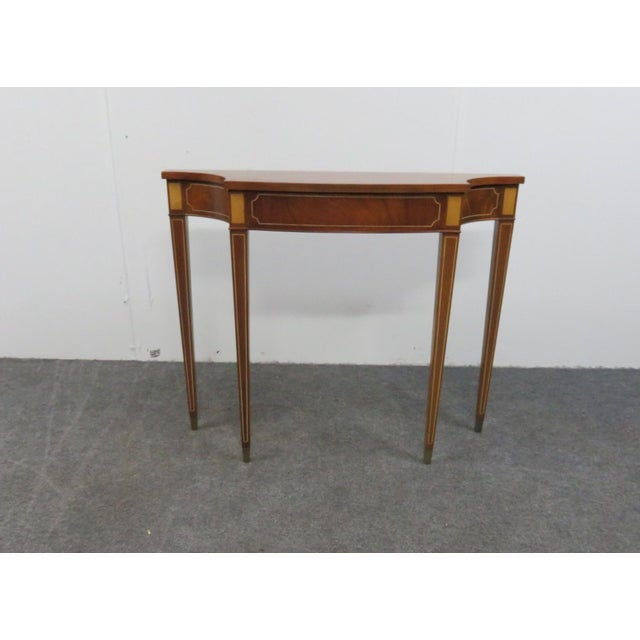 Brass Hepplewhite Style Console Table For Sale - Image 7 of 7