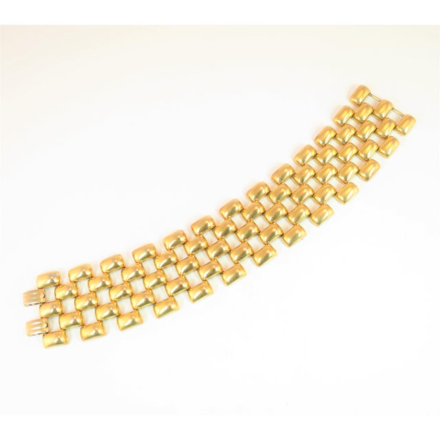 Mid-Century Kreisler Geometric Open-Link Vermeil Bracelet 1940s For Sale - Image 13 of 13
