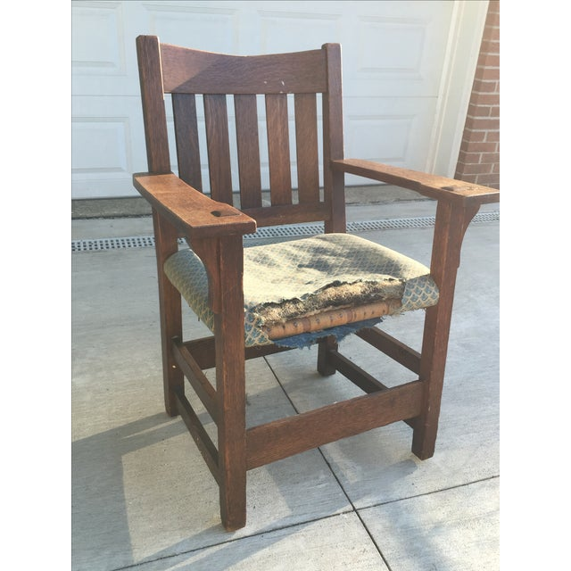Early 19th-C. Gustav Stickley Armchair - Image 2 of 11