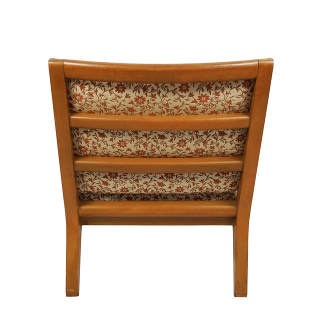 """1940s Mid Century Edward Wormley Drexel """"Precedent"""" Slipper Chairs - a Pair For Sale - Image 5 of 8"""