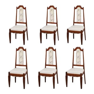 1940s Vintage French Dining Chairs- Set of 6 For Sale
