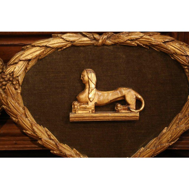 Pair of 19th Century French Empire Carved Wall Plaques With Sphinx Sculptures For Sale In Dallas - Image 6 of 8