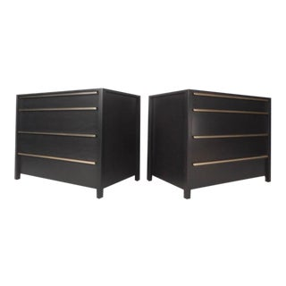 Pair of Mid-Century Modern Ebonized Chests in the Style of George Nelson