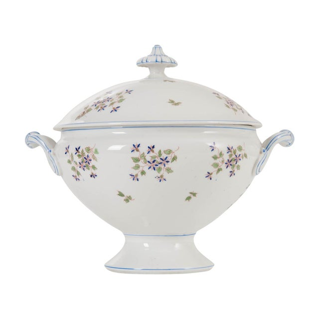 White French Old Paris Porcelain 'Cornflower' Pattern Tureen For Sale - Image 8 of 8