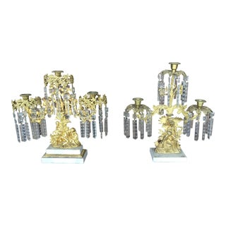 Late 19th Century French Candle Holders - a Pair For Sale