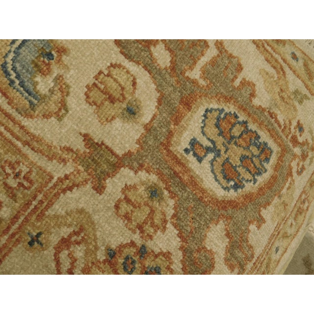 """Beige Chinese Ziegler Hand Knotted Rug - 8'2""""x 10'4"""" For Sale - Image 8 of 8"""