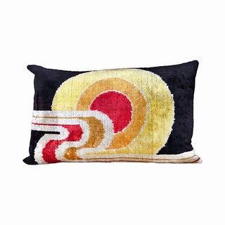 Kim Salmela Modern Color Blocking Turkish Silk Velvet Ikat Pillow Preview
