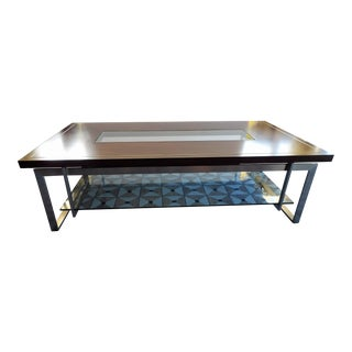 Contemporary Lexington Furniture Coffee / Cocktail Table With Glass Center For Sale