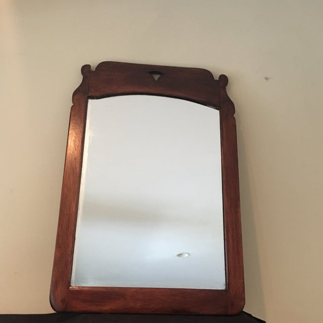 Brown Antique Cushman Colonial Wood Mirror For Sale - Image 8 of 8