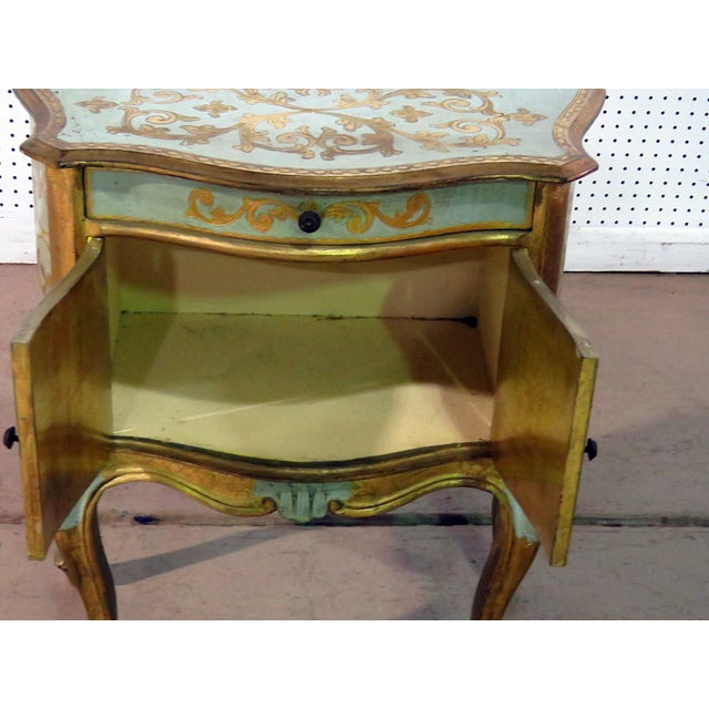 Antique Louis XV Style Distressed Painted Side Table For Sale In Philadelphia - Image 6 of 9