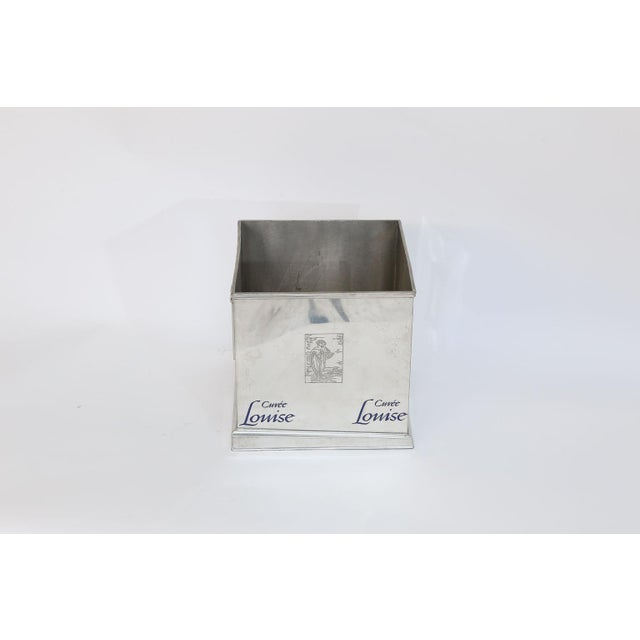 Pommery Cuvee Louise Square Champagne Cooler For Sale - Image 4 of 9
