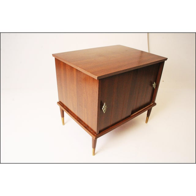 Vintage Mid-Century Modern Record Storage Cabinet For Sale - Image 5 of 11