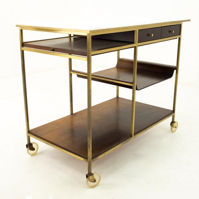 Paul McCobb Mid Century Bar Cart For Sale - Image 10 of 10