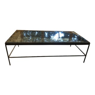 Mid-Century Modern Custom Made Wrought Iron Coffee Table For Sale