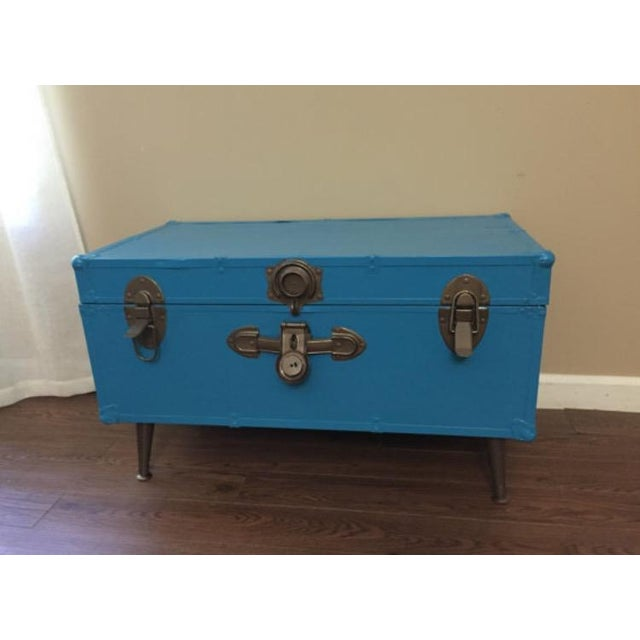 Blue Steamer Trunk Table - Image 2 of 6