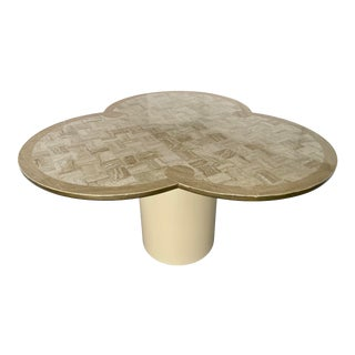 Italian Clover Shape Hallway Travertine Table From 70's For Sale
