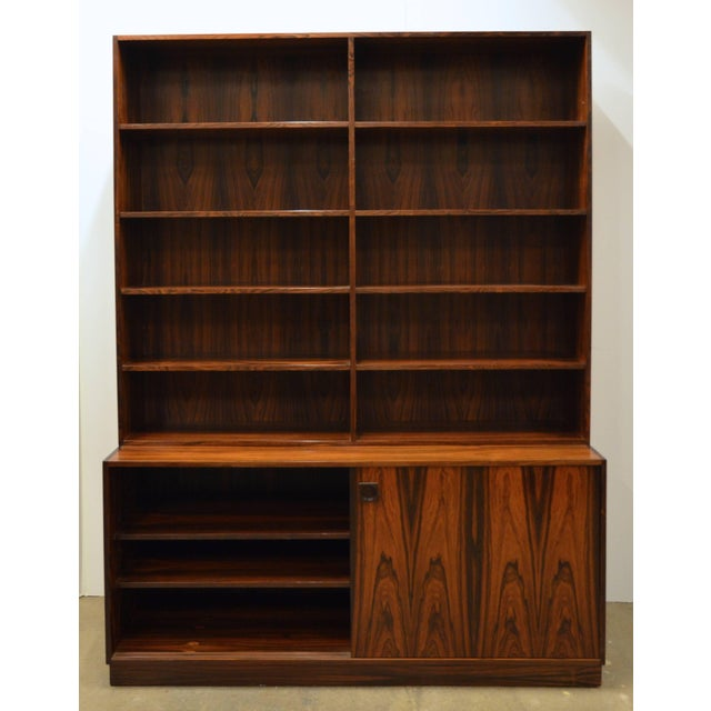 Rosewood Mid-Century Modern Danish Rosewood Bookcase For Sale - Image 7 of 10