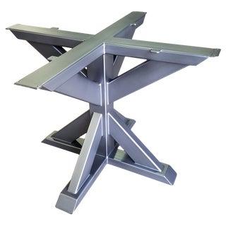 Transitional Metal Pedestal Base For Sale