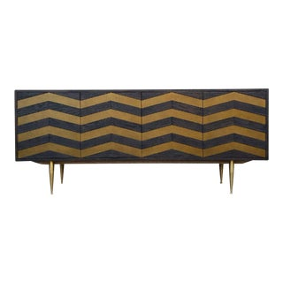 Modern Black and Gold Credenza