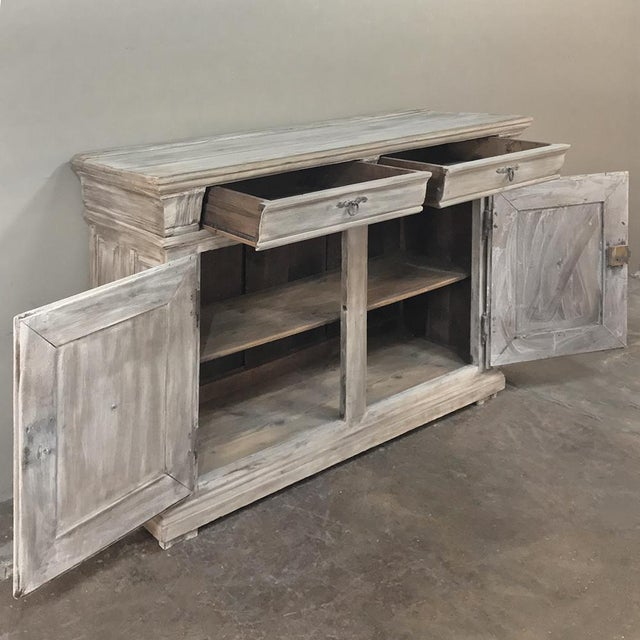 Country Early 18th Century Country French Whitewashed Buffet For Sale - Image 3 of 13