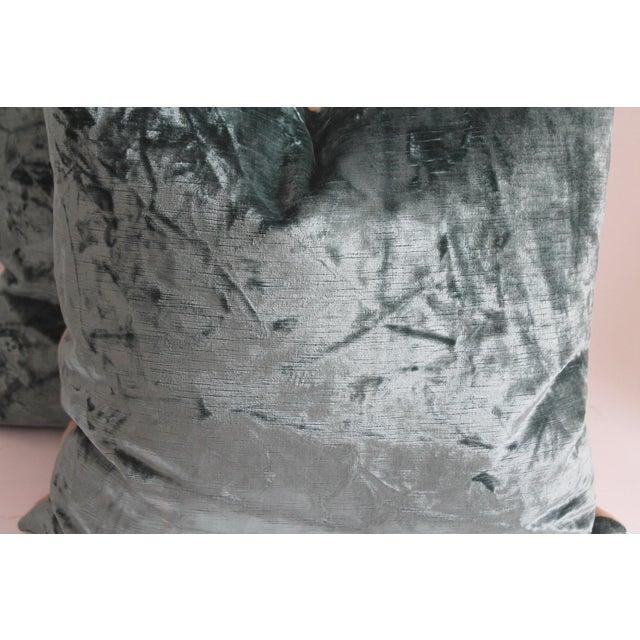 Folk Art Velvet Pillows For Sale - Image 3 of 4