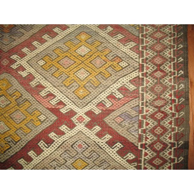 Vintage Geometric Kilim Rug - 6'1'' X 10'6'' - Image 3 of 5