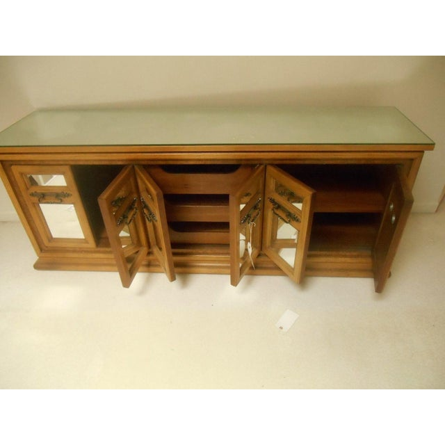 Mid-Century Modern Walnut & Mirror Credenza For Sale - Image 7 of 7